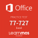 Microsoft Official Practice Test Microsoft Excel 2016 Cloud English