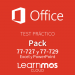 Bundle Microsoft Office 2016 Microsoft Official Practice Test Cloud: Excel + PowerPoint Spanish