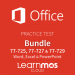 Bundle Microsoft Office 2016 Microsoft Official Practice Test Cloud: Word + Excel + PowerPoint English