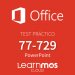 Microsoft Official Practice Test Microsoft PowerPoint 2016 Cloud Spanish
