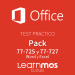 Bundle Microsoft Office 2016 Microsoft Official Practice Test Cloud: Word + Excel Spanish