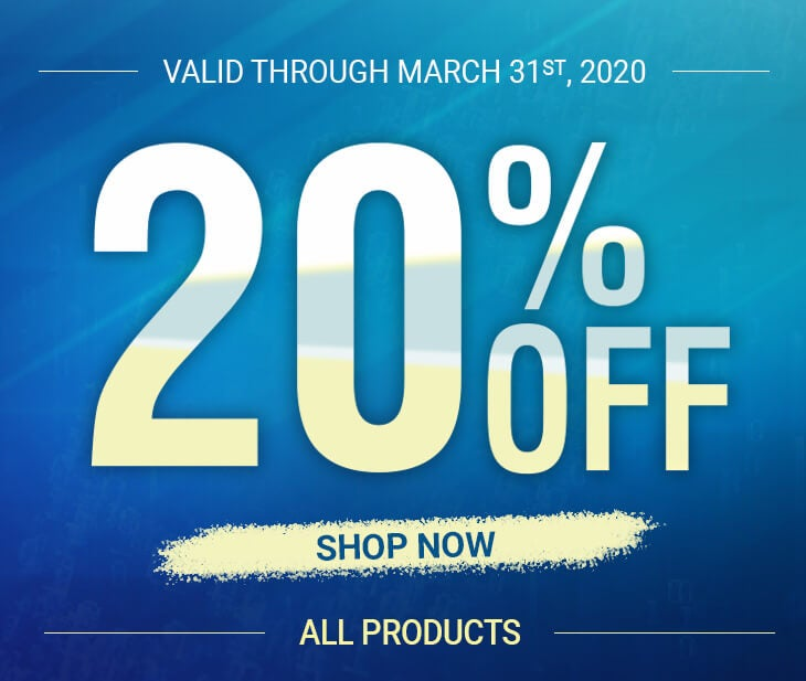 Discount 20% on March